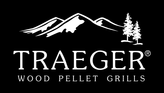 Traeger Wood Pellet Grills - white print on black background