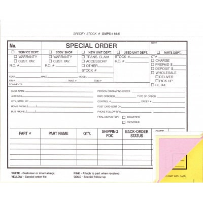 Special Order thumbnail