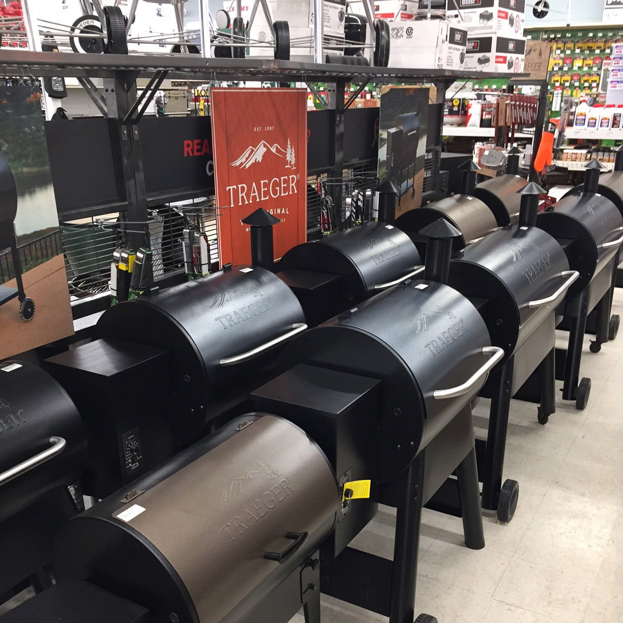 Traeger Grills display