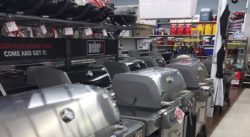 Display of Weber Grills of all types