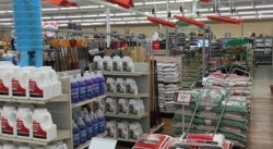 Snow removal gear at Newbys Ace Hardware.