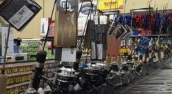 Fishing Rods on Display at Newby's Ace Hardware