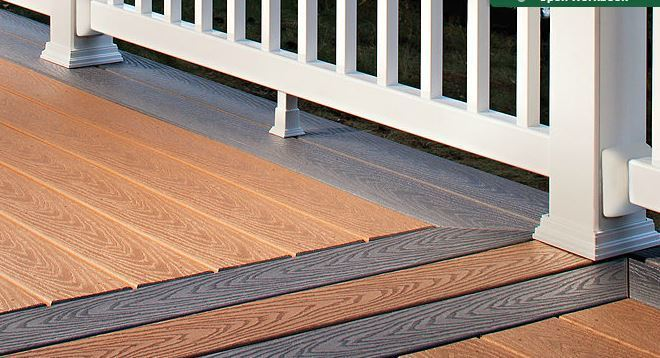 Decking hamshaw lumber ace hardware for Best composite decking brand 2016