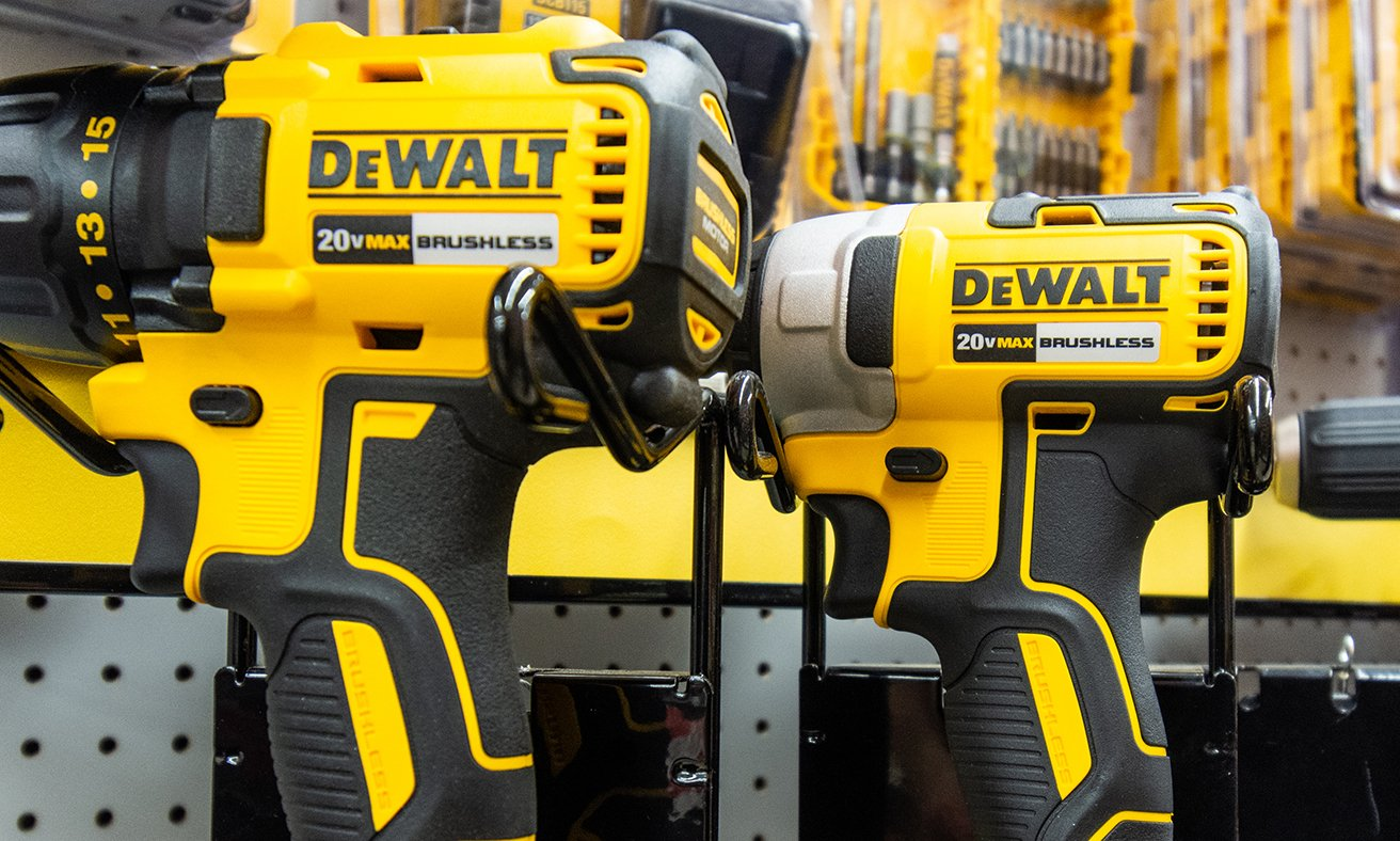 DeWalt cordless drills with bit accessories