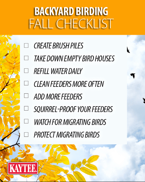 birding fall checklist for pet food & supplies department