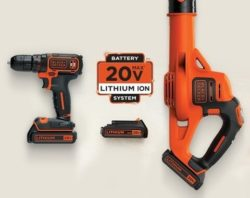 selection of 20v power tools
