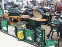 big green egg display at Bibens Ace South Burlington