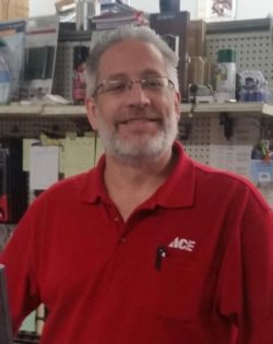 Peter Torney, general manager of our Bibens Ace hardware store in Springfield, VT