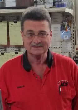 Brian Cater, manager of our bibens ace hardware store in Springfield, VT