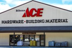 store front of Bibens Ace, Springfield, VT, 2018