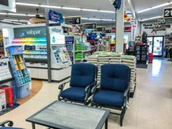 Bibens Ace  Colchester center aisle, patio furniture in store interior
