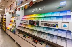Burlington paint studio, Valspar color swatches