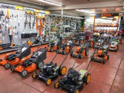 brown and roberts ace small engine shop featuring various lawn & garden equipment