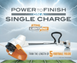 Single-Charge power of STIHL trimmer
