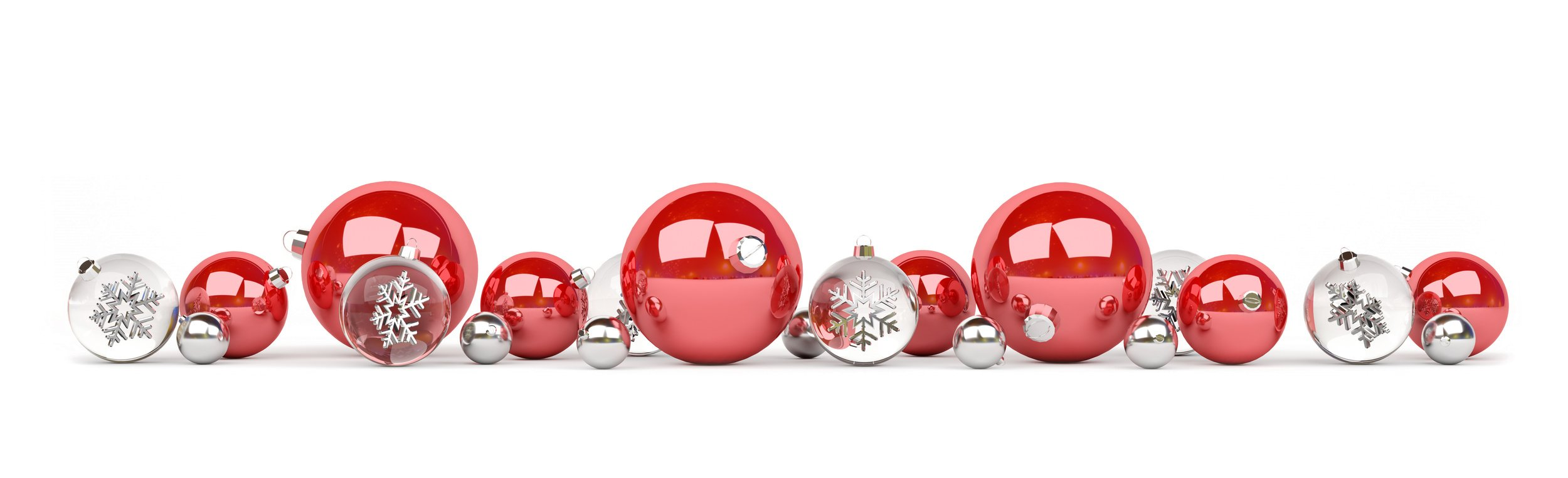 red and what christmas balls
