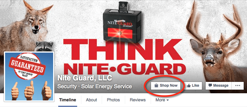 Facebook Cover Photo with a Call To Action