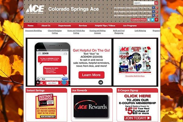 Colorado Springs Ace Website