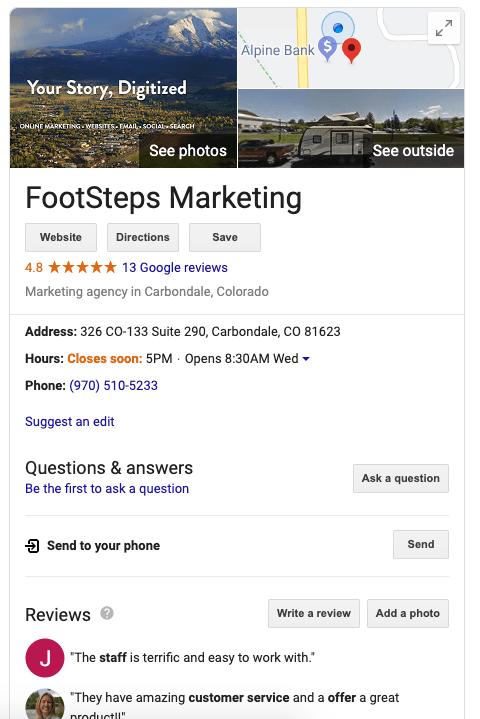 Google My Business-FSM