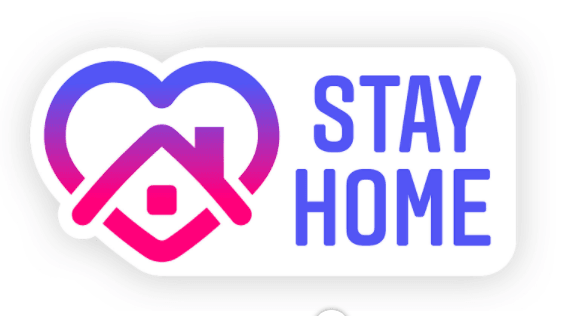 Stay Home Logo from Instagram