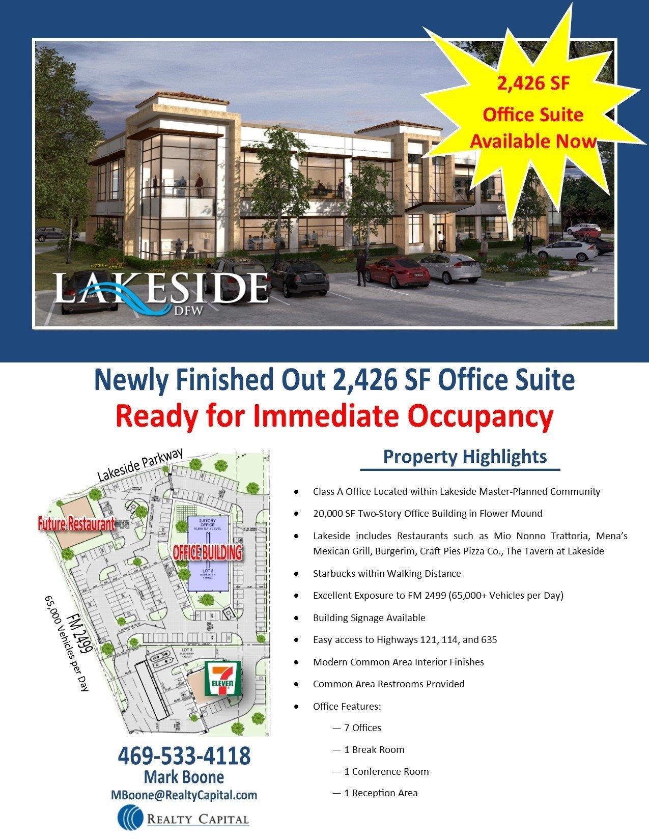 Lakeside Office Building – 2,426 SF Spec Suite thumbnail