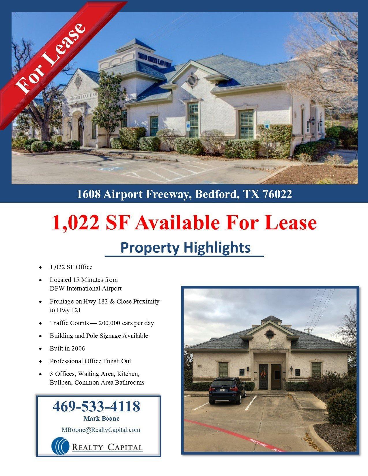 Bedford Office- 1,022 SF thumbnail