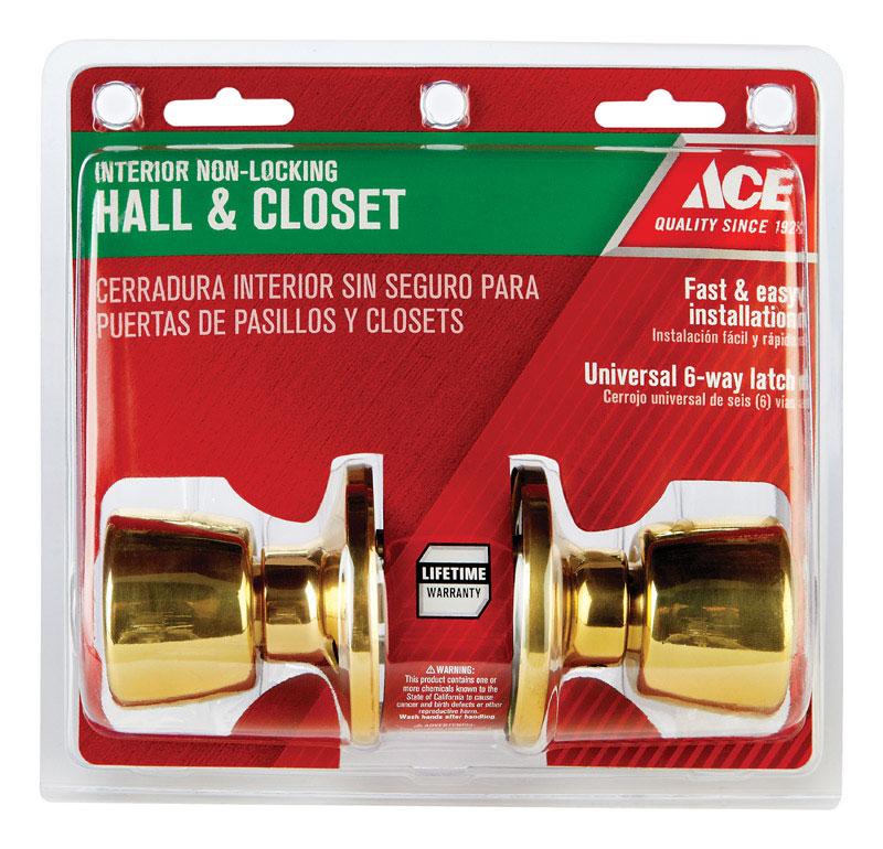 Polished Brass Door Knob thumbnail