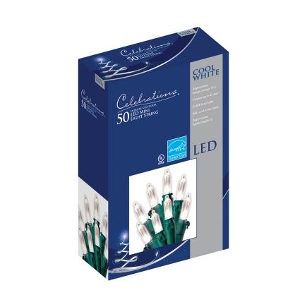 Celebrations 50 Ct LED Cool WhiteTraditional Mini Light Set thumbnail