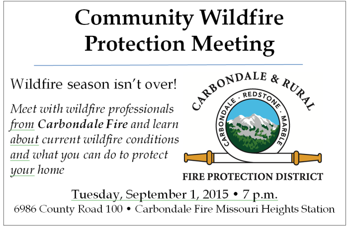 Community Wildfire Meeting