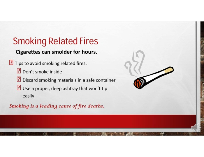 smoking related fires 1