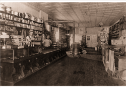 Owenhouse ACE Hardware - Bozeman, Montana - Historical black and white photograph of store