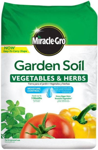 Miracle Gro Garden Soil for Vegetables and Herbs