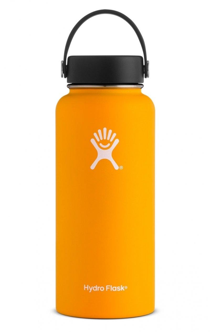 orange hydro flask bottle bozeman montana
