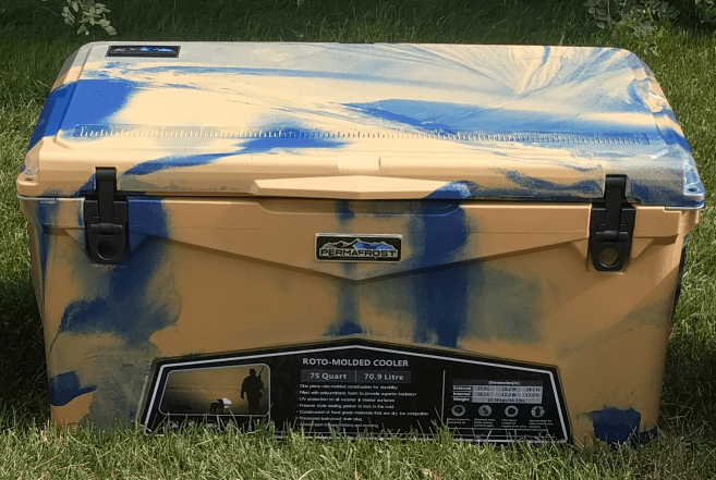limited edition permafrost cooler blue and gold swirl bozeman montana ace hardware