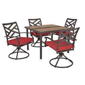 Living Accents 5 pc. Dining Set Red thumbnail