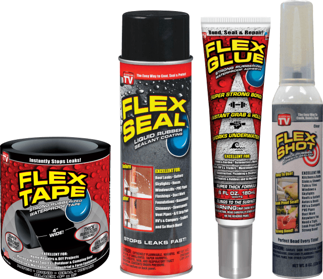 Flex Seal, Flex Tape, Flex Glue or Flex Shot Rubber Sealant thumbnail