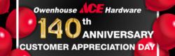 owenhouse ace hardware 140th anniversary - Bozeman, Montana