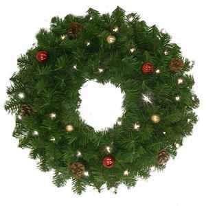 Pre-Lit Douglas Fir 6′ Garland or 24″ Wreath thumbnail