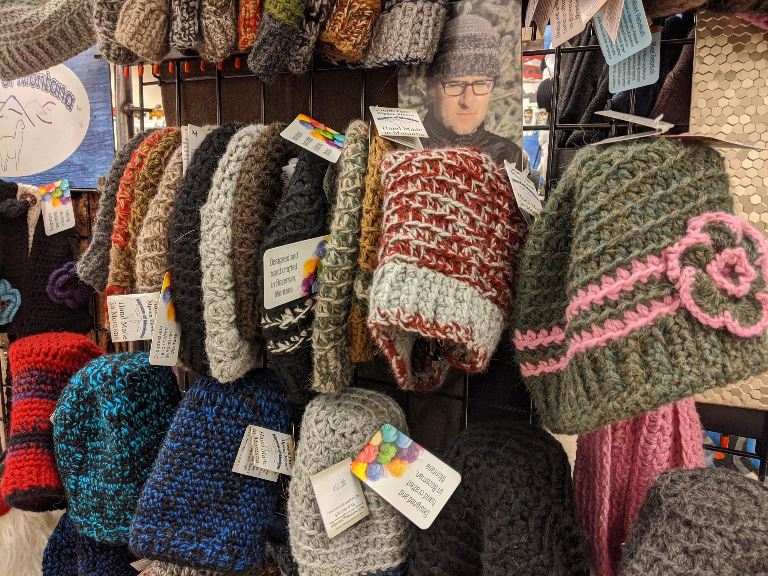 alpaca wool knit hats bozeman montana