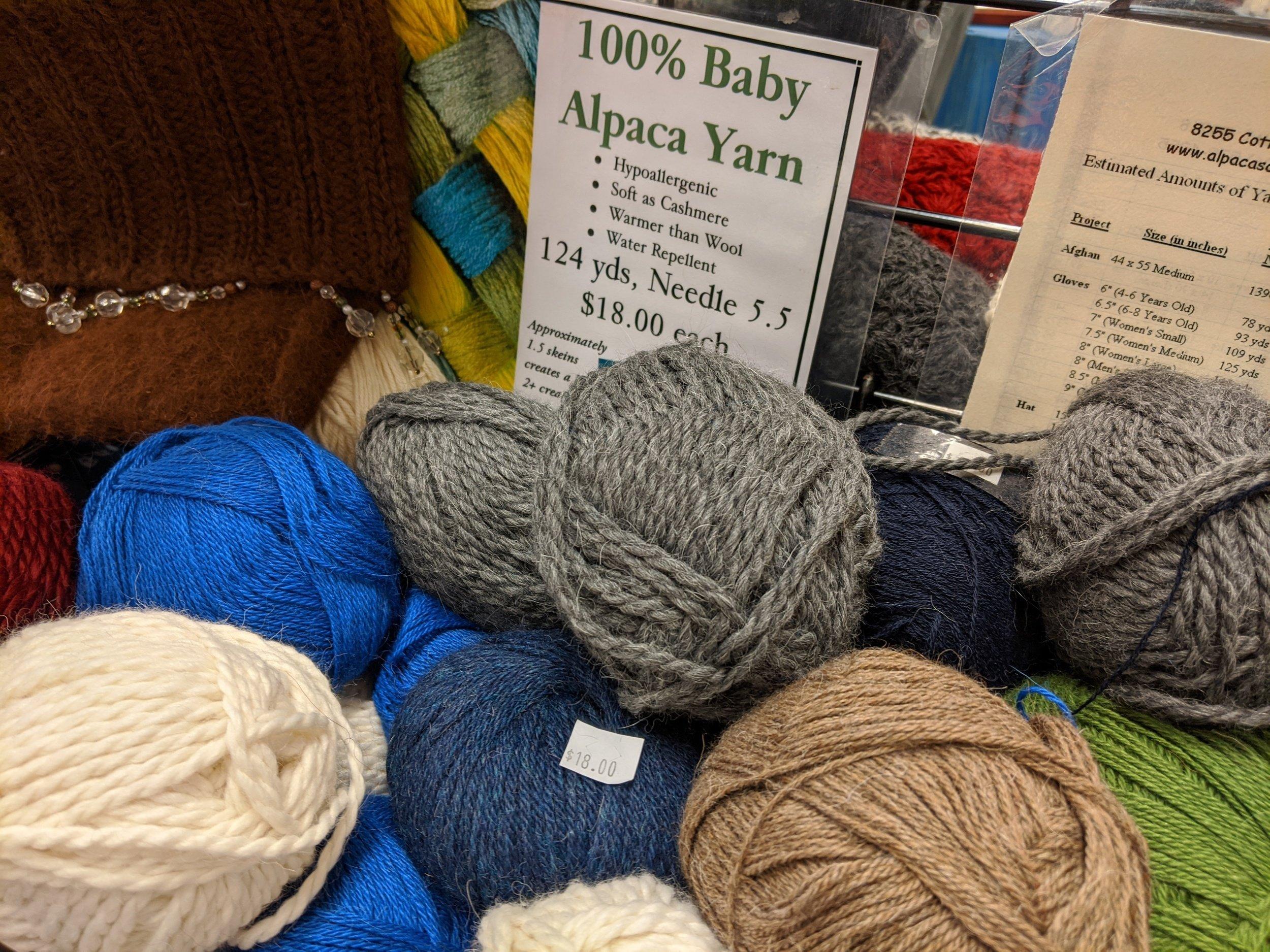 alpaca wool yarn owenhouse ace hardware - Bozeman, Montana
