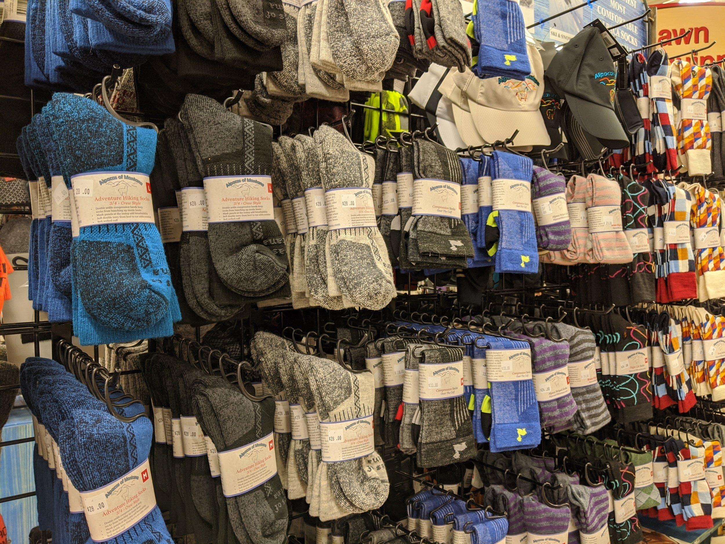 alpaca wool socks owenhouse ace hardware - Bozeman, Montana