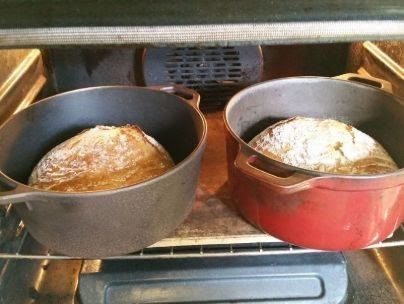 baking bread in an oven - Bozeman, Montana
