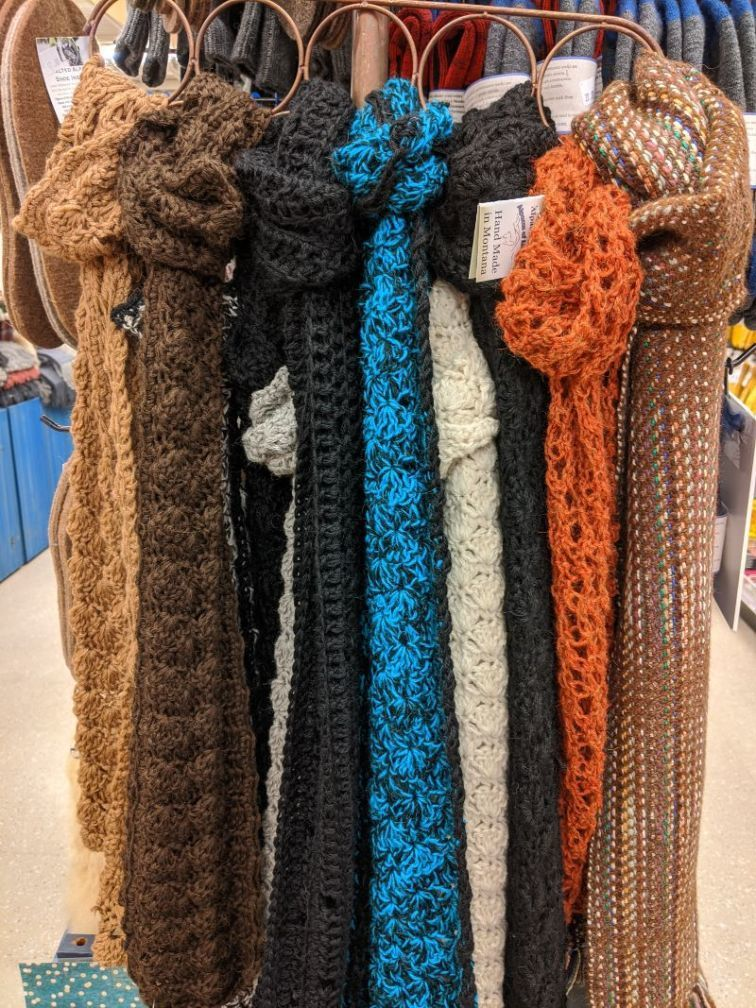 alpacas of montana scarfs at ace hardware owenhouse - Bozeman, Montana
