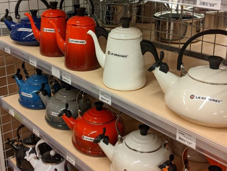 Le Creuset teapots at ace hardware in montana