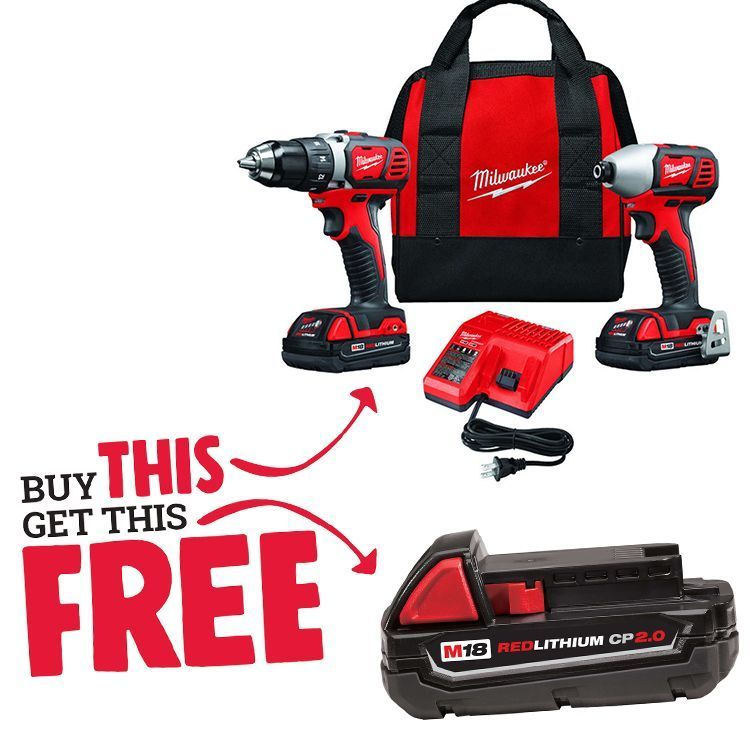 Milwaukee® M18™ REDLITHIUM™ Compact Drill/Driver & Impact Driver Combo Kit thumbnail
