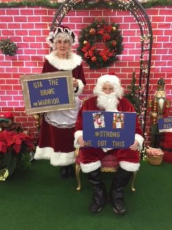Santa and Mrs. Claus at fundraiser