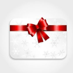Image of Gift Card with Red Ribbon