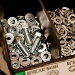 Picture of screws and washers.