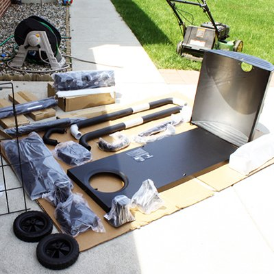 Mower and Grill Assembly thumbnail