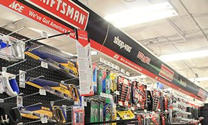 Inside store image of Craftsman tools display