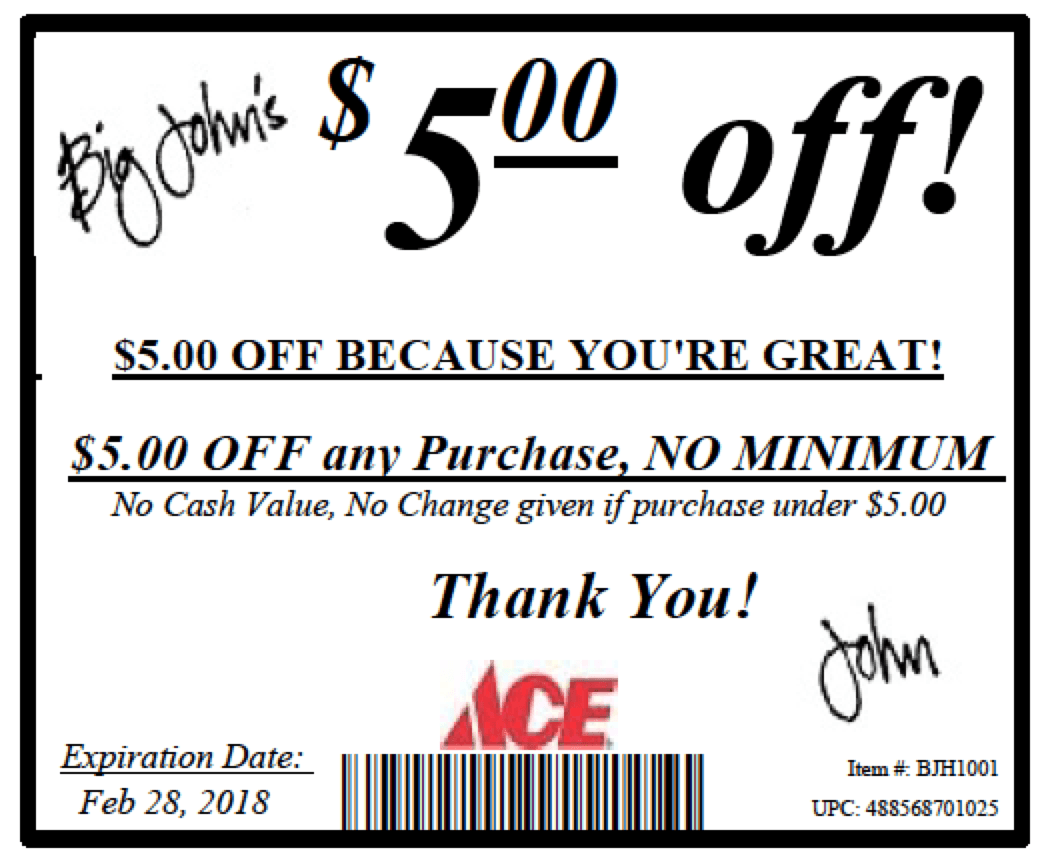 $5 Off Coupon